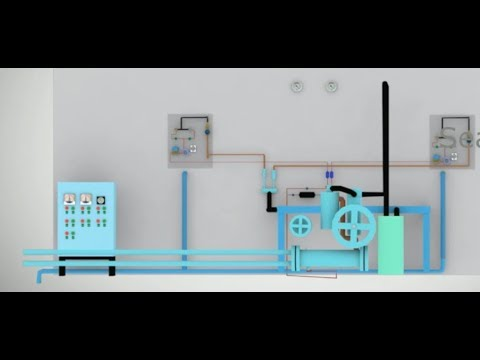 SHIP'S REFRIGERATION FULL WORKING SYSTEM (ANIMATED) | TEV FUNCTIONING | WORKING OF SENSING BULB