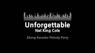 Nat king cole-unforgettable (melody) [zzang karaoke]