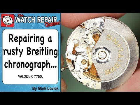 Service and repair of a rusty valjoux 7750 based Breitling watch