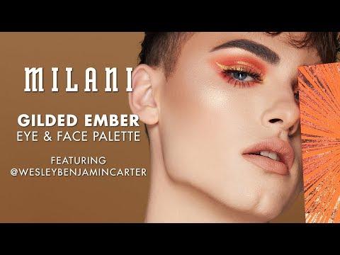 Gilded Ember Eye + Face Palette Tutorial | MILANI ft. Wesley Benjamin Carter