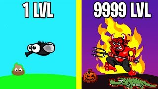 EVOLUTION IN HELL! - FlyOrDie.io | ALL ANIMALS EVOLUTION FlyOrDie.io NEW UPDATE!