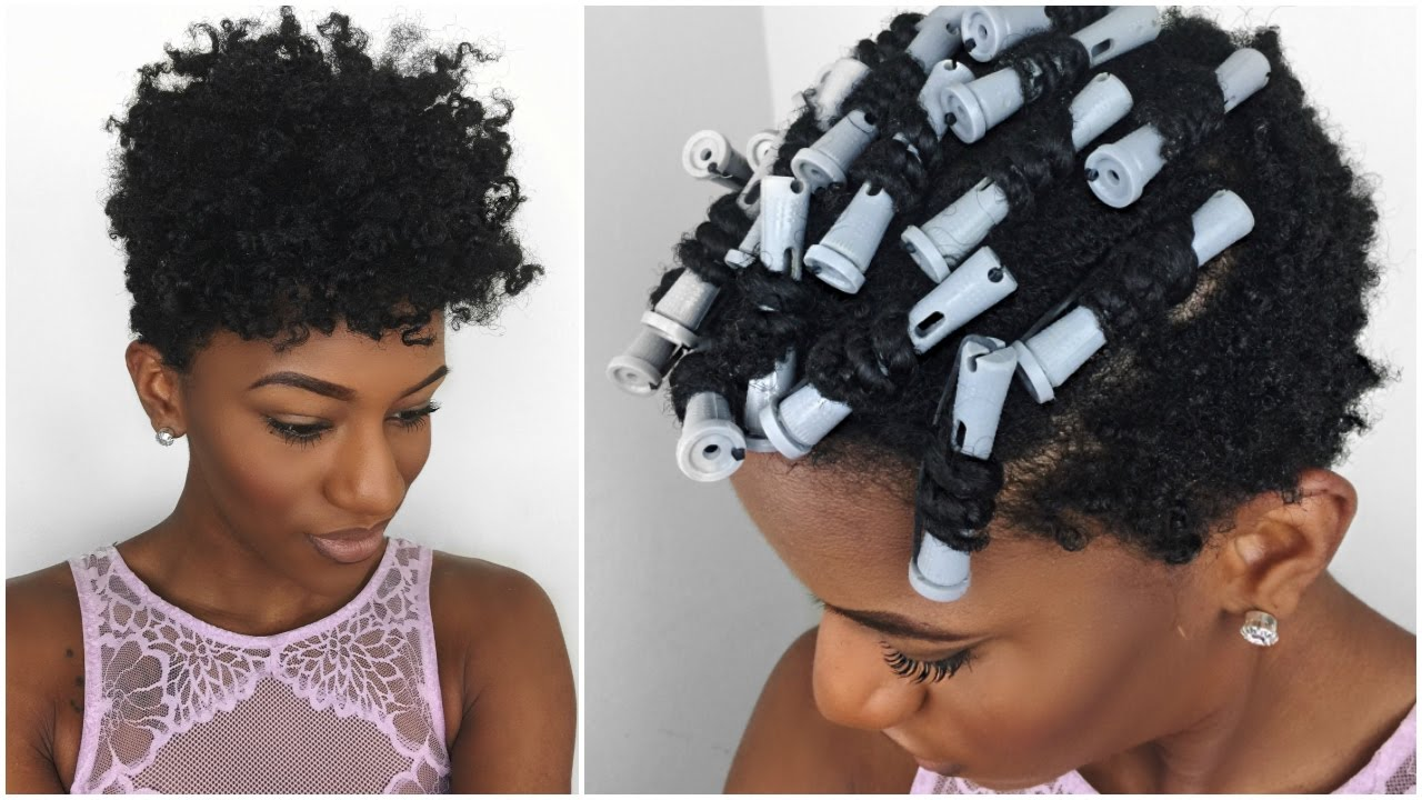 Natural Hair Twist N Curl On Short Natural Hair Using The Loc Method