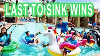 LAST TO SINK & FALL in the POOL!! kid vs kid