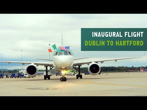 Aer Lingus Cockpit Video | Inaugural Dublin to Hartford Flight