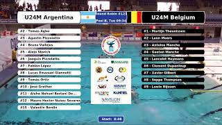 Game 119 (FRA vs RSA U24M) - 5th CMAS Underwater Hockey Age Group Worlds - Sheffield, UK (Court B)
