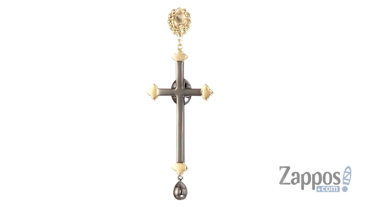 974b83fda Swarovski Millennium Cross Pierced Earrings SKU: 9174271 - YouTube