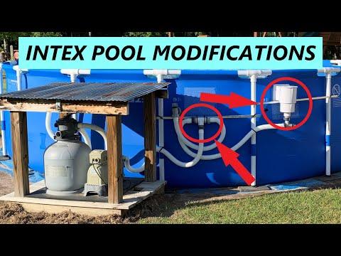 Intex Pool Ultimate setup 1.5 inch Conversion & Hayward skimmer Installation part 3