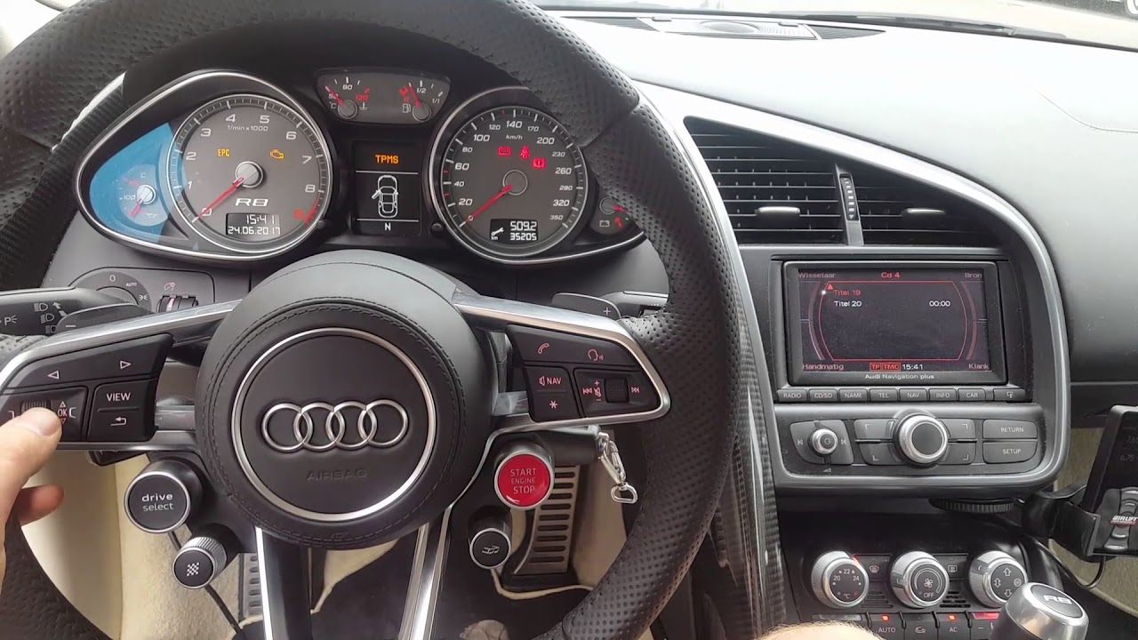 Audi R8 42 With R8 4s Steering Wheel Youtube