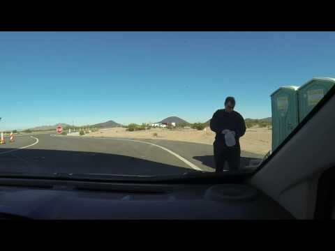 Drinking the water at a Mexican Standoff, US Border Patrol Checkpoint Immigration Inspection