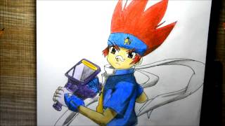 Drawing Gingka - Beyblade metal fusion