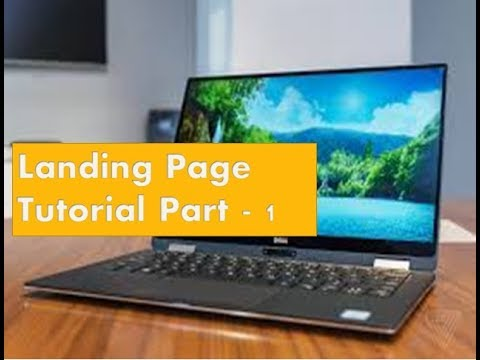 Create landing a page for online marketing Tutorial Part 1 - Jomon Tube