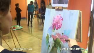 урок живописи для взрослых в спб букет