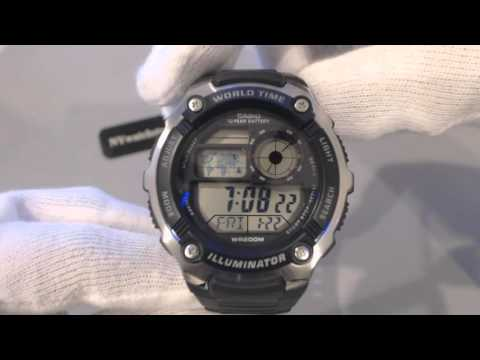 Men's Casio World Time Digital Sports Watch AE2100W 1AV