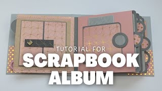 SCRAPBOOK ALBUM TUTORIAL | PEACOCK ALBUM | SCRAPBOOK IDEAS