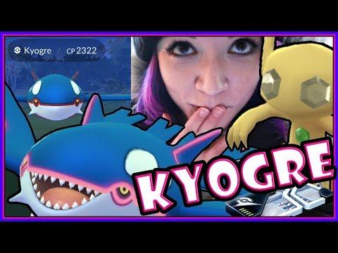 SHINY HYPE 2x 98% IV KYOGRE RAIDING in POKEMON GO!