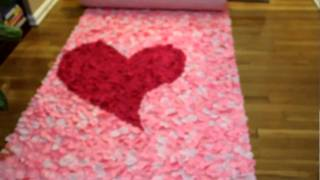 Heart 3-d Rose Petal Aisle Runner