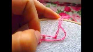 Cómo bordar el nudo francés.