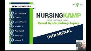 Intrarenal Nursing KAMP Video 4 AKI Acute Kidney Injury What is acute kidney injury