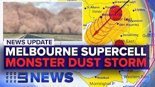 News Update: Wild weather lashes Melbourne, NSW dust storm | Nine News Australia