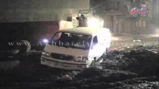 الصرف الصحى يعيق حركة المرور ويهدد بانهيار أعمدة دائرى فيصل
