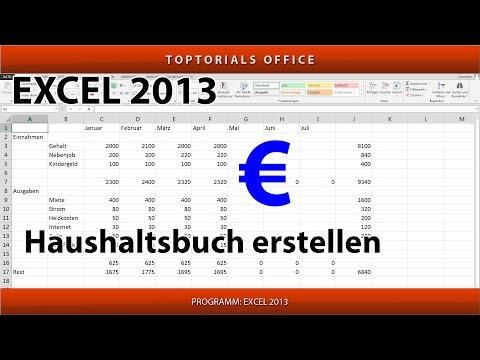 Haushaltsbuch erstellen (Excel)