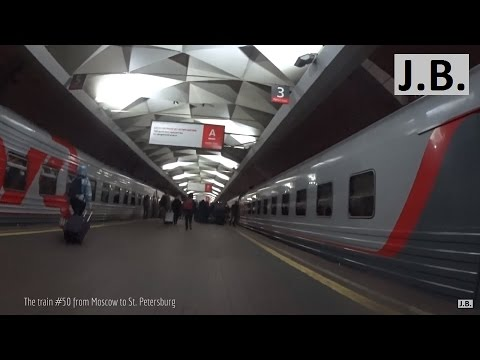 The $16 trip from Moscow to St. Petersburg on a train