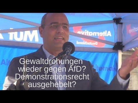 Peter Böhringer in München: Bunter Mordaufruf gegen AfD? Ohne Musik? Staatsanwaltschaft tätig?