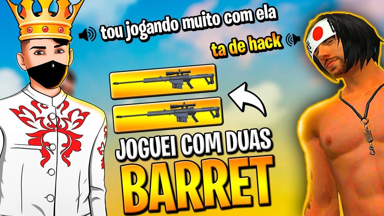 SOU O REI DA BARRET?! NOVA SNIPER DO FREE FIRE!!