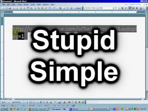 Embed youtube into powerpoint 2007 stupid simple youtube ccuart Gallery