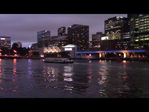 Melbourne River Cruise Ferry at night