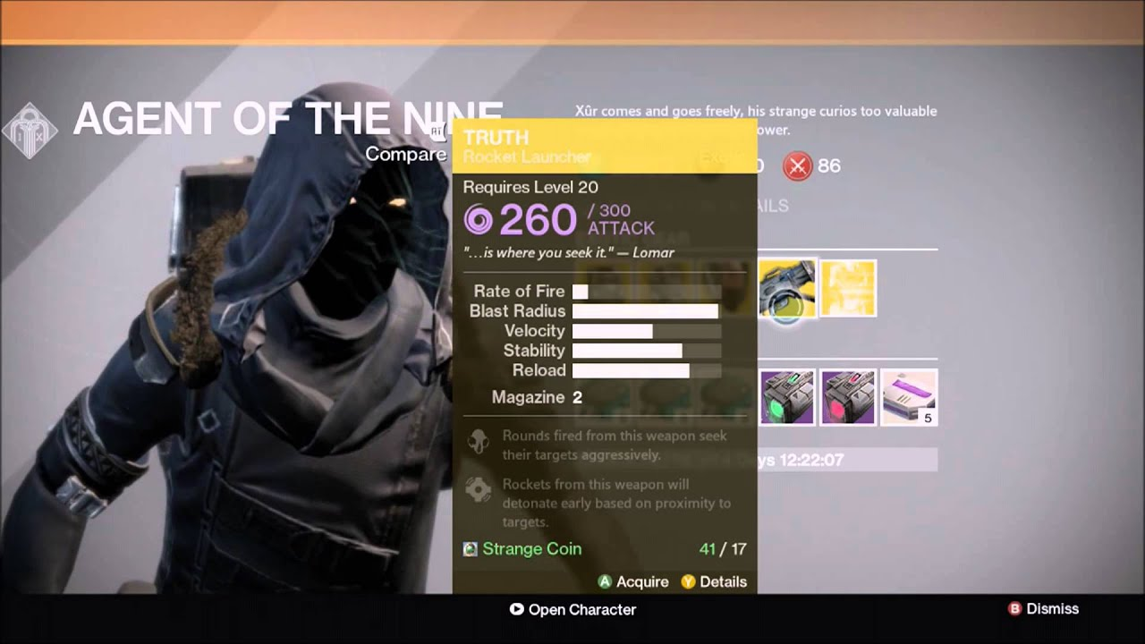 Destiny xur week 6 exotic engram hilarious fail how to get exotic