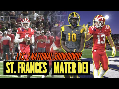 HISTORIC TOP TWO SHOWDOWN! No. 1 Mater Dei vs. No. 2 St. Frances Academy Football Highlights