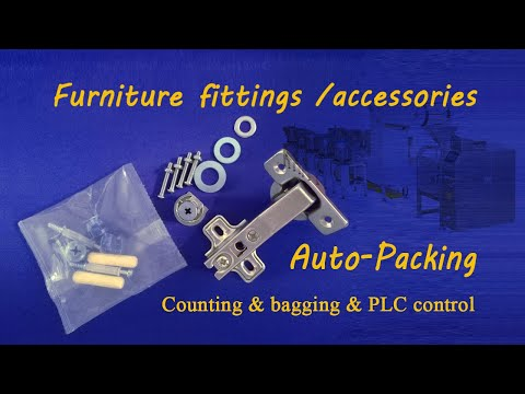 Furniture Fitting packing machine with counting and bagging system