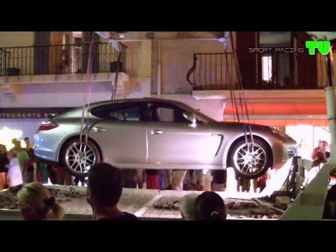 PORSCHE PANAMERA GETS TOWED BY THE POLICE (St Tropez 2014)