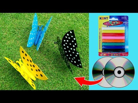 DVD Recycled Butterfly Tutorial - How to recycle an old DVD in to a Butterfly - DIY Recycling Craft