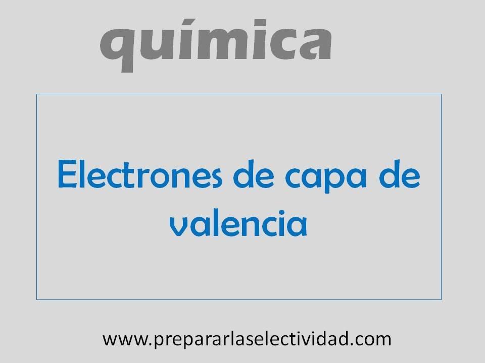 Electrones de capa de valencia youtube electrones de capa de valencia urtaz Image collections