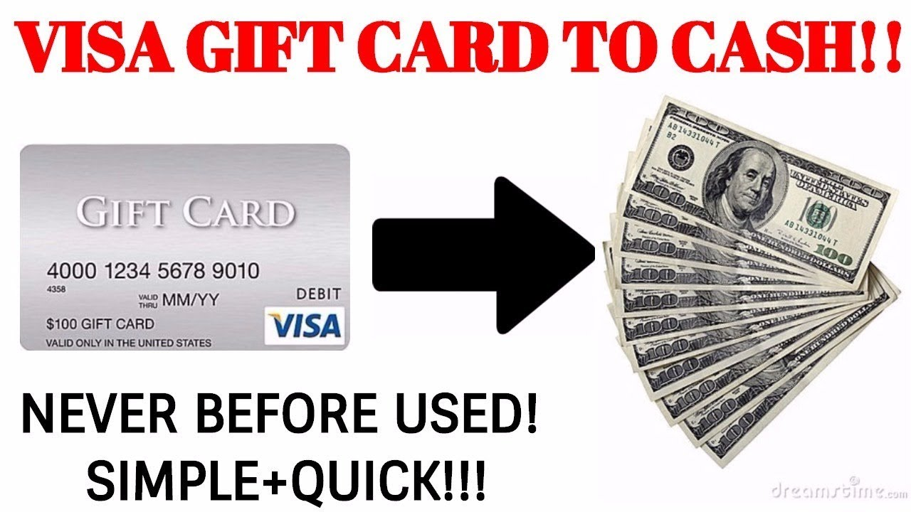 Turn Your Visa Gift Card Into Cash 2017 - YouTube