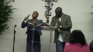Propheta Smith and Ralna Accius at One Accord Ministry, Pascagoula Mississippi, 03-27-15