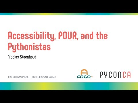 Image from Accessibility, POUR, and the Pythonistas