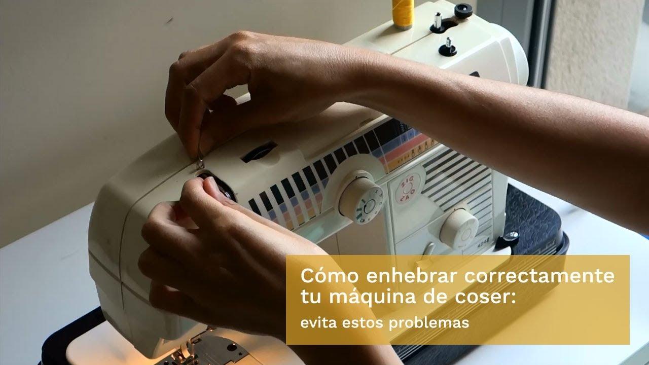 Cómo enhebrar correctamente tu máquina de coser para