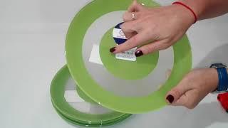 Тарелка обеденная 26см Luminarc Simply Colors Green J7679 - обзор