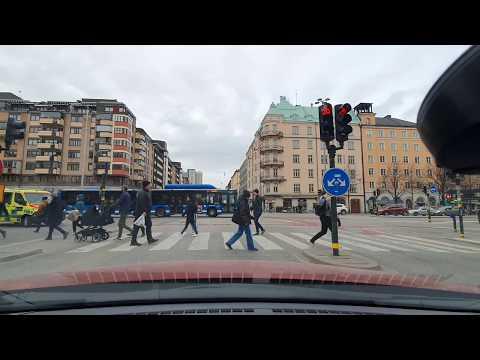 Drive through Stockholm Sweden April 2020   Dashcam Sweden