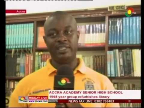 Accra Academy 1998 year group refurbishes school library - 6/7/2016