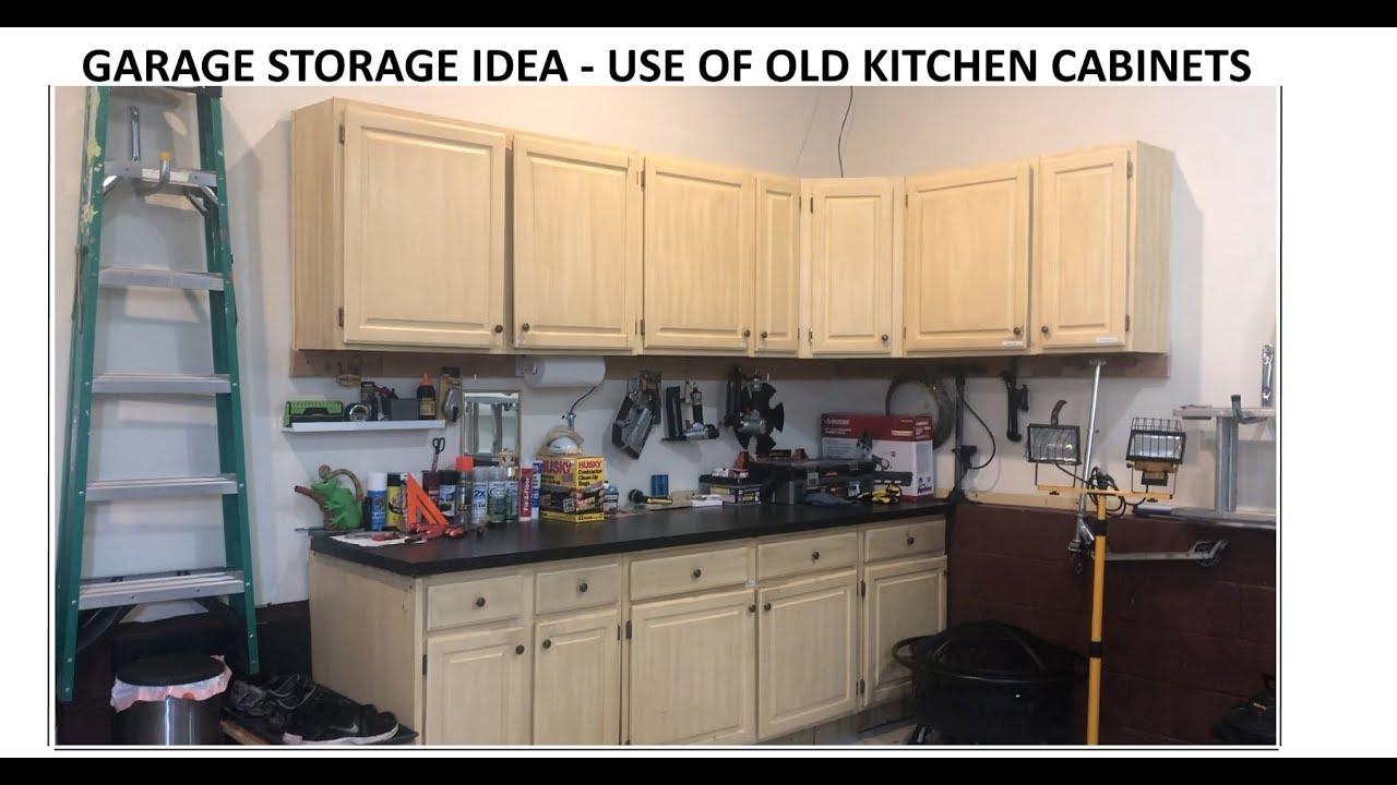 Garage Storage Idea Reuse Kitchen Old Cabinets Youtube
