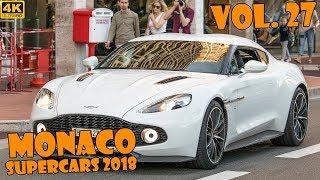 SUPERCARS IN MONACO 2018 - VOL. 27 (Chiron, LaFerrari, 918 Spyder, Dino, etc ... ) [2019 4K]