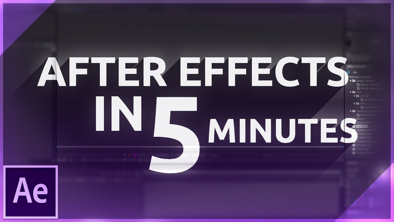 Learn after effects in 5 minutes beginner tutorial youtube baditri Image collections