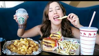 IN N OUT BURGER Animal Style MUKBANG! (Eating Show)