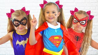 Diana turns into superheroes and helps her friends