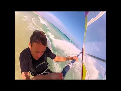 windsurfing Fuerteventura at the new Club Mistral-sotavento Rider: Ronald Stout-gopro
