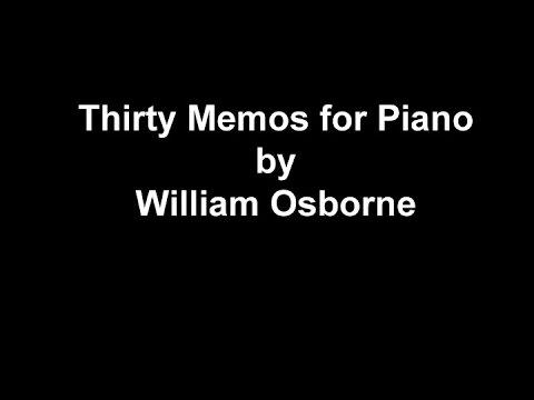 Thirty Memos for Digital Piano by William Osborne